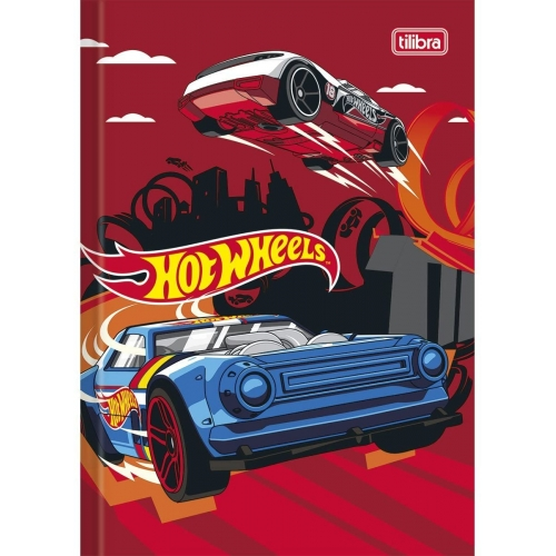 CADERNO BROCHURA 1/4 CF 48FLS TILIBRA HOT WHEELS