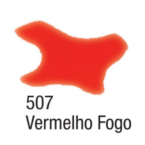 AQUARELA SILK ACRILEX 60ML VERMELHO FOGO