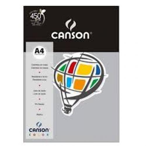 PAPEL COLOR A4 180G CINZA 10FLS CANSON