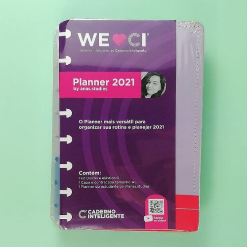 PLANNER CADERNO INTELIGENTE BY ANAS.STUDIES A5 LILAS PASTEL