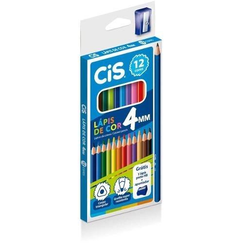 LAPIS DE COR CIS 12 CORES 4MM