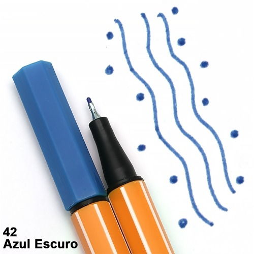 CANETA STABILO POINT 88/41 AZUL ESCURO