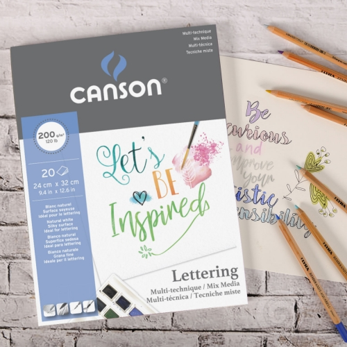 PAPEL LETTERING MIX MEDIA A4 200G 20FLS CANSON