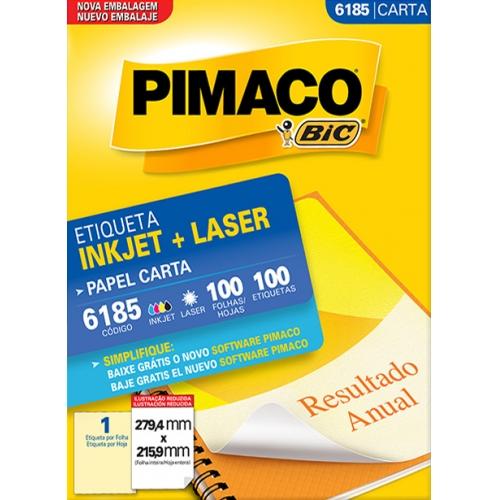 ETIQUETA CARTA 100FLS PIMACO 6185