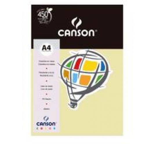 PAPEL COLOR A4 180G MARFIM 10FLS CANSON