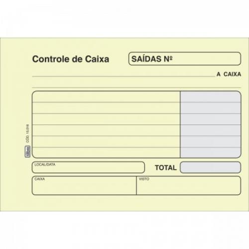 FICHA CONTROLE DE CAIXA - SAIDA AMARELA 100FLS TILIBRA