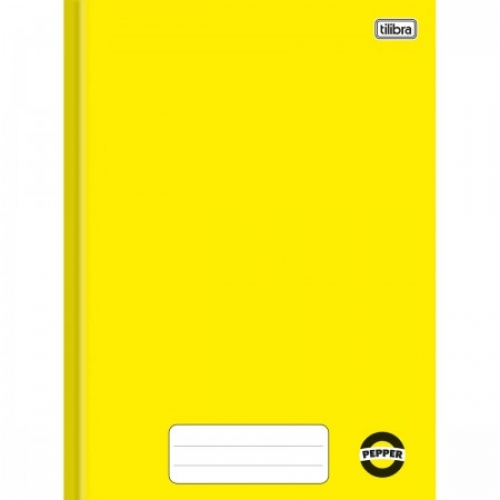 CADERNO BROCHURA 1/4 CD 40FLS TILIBRA PEPPER AMARELO