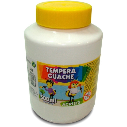 TINTA GUACHE ACRILEX 500ML BRANCO 519