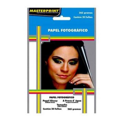 PAPEL FOTO 10X15 285G 20FLS MASTERPRINT