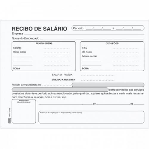 RECIBO DE PAGAMENTO DE SALARIO 100FLS TILIBRA