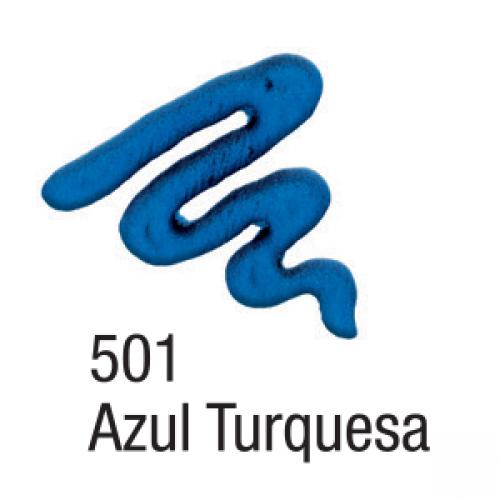 TINTA TECIDO ACRILEX ACRIPUFF 35ML AZUL TURQUESA