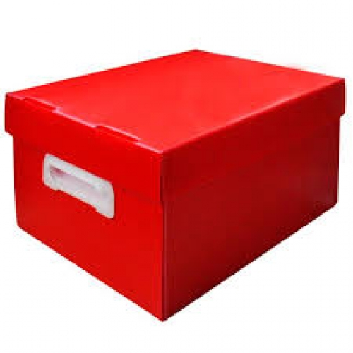 CAIXA ORGANIZADORA POLIBRAS BEST BOX M VERMELHA