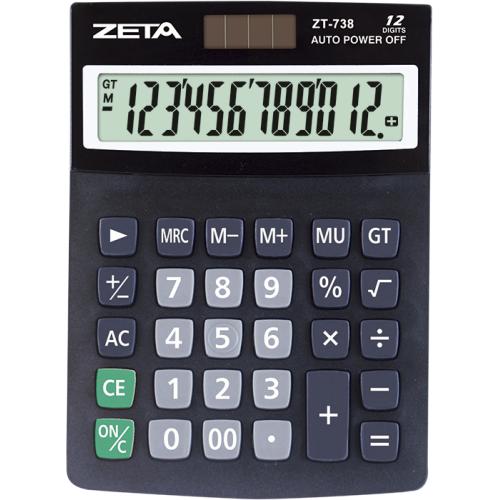 CALCULADORA DE MESA ZETA ZT738