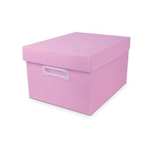 CAIXA ORGANIZADORA POLIBRAS BEST BOX G PASTEL ROSA