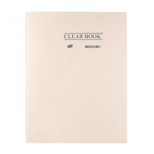 PASTA CATALOGO A4 20ENV YES CLEAR BOOK PASTEL BEGE