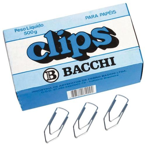 CLIPS BACCHI GALVANIZADO 1/0 CAIXA GRANDE