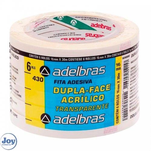 FITA DUPLA FACE ADELBRAS 16X30