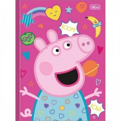 CADERNO BROCHURA CD 80FLS TILIBRA PEPPA PIG