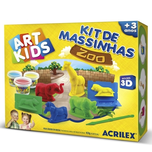 MASSA DE MODELAR BASE DE AMIDO ACRILEX SOFT KIT 40010