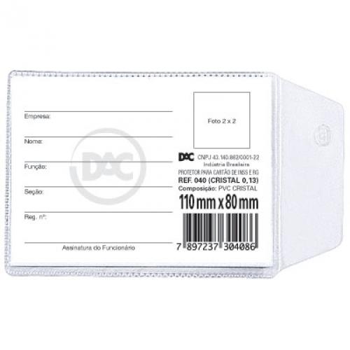 PROTETOR PLASTICO 110X80MM DAC