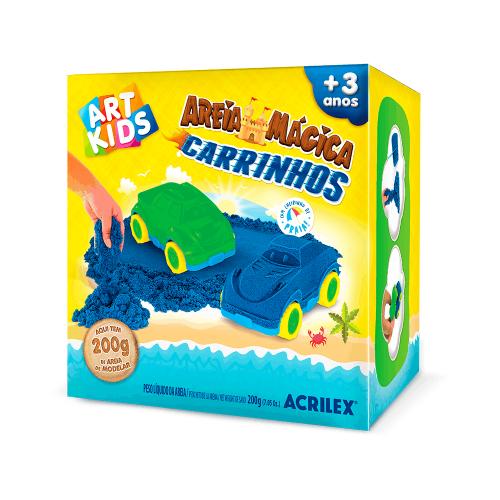 AREIA MAGICA ACRILEX KIT CARRINHOS 200G