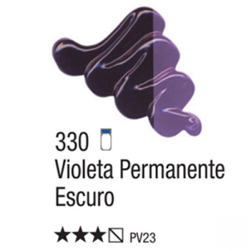 TINTA TELA OLEO ACRILEX 20ML VIOLETA PERMANENTE ESCURO 330