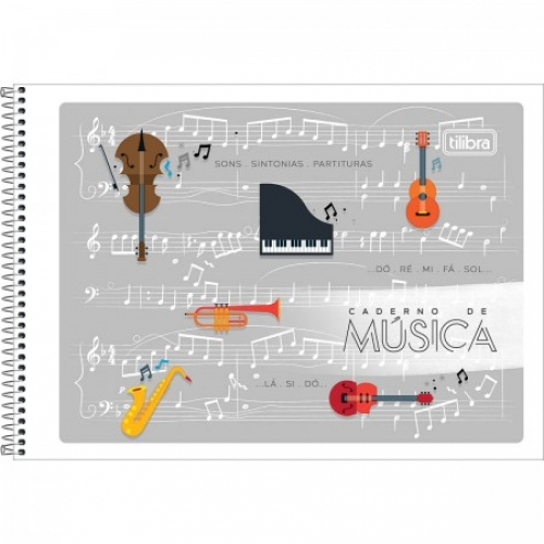 CADERNO PED ESPIRAL 1/4 MUSICA CF 48FLS TILIBRA