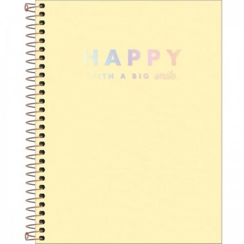 CADERNO COLEGIAL 10M CD TILIBRA HAPPY AMARELO