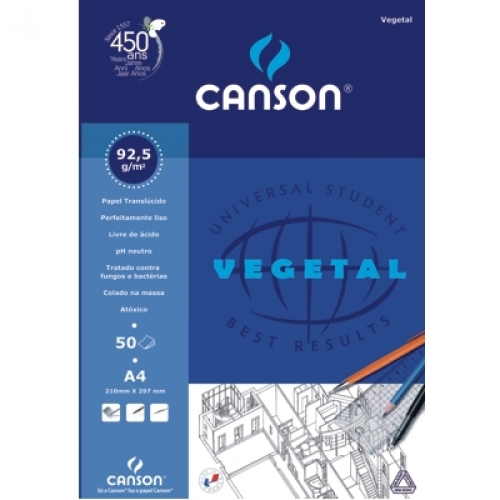 PAPEL VEGETAL A4 90G CANSON