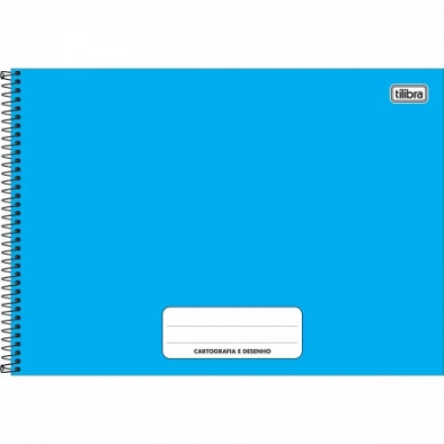 CADERNO CARTOGRAFIA CD 80FLS TILIBRA PEPPER AZUL