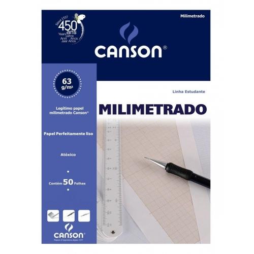 PAPEL MILIMETRADO A4 63G CANSON ESTUDANTE