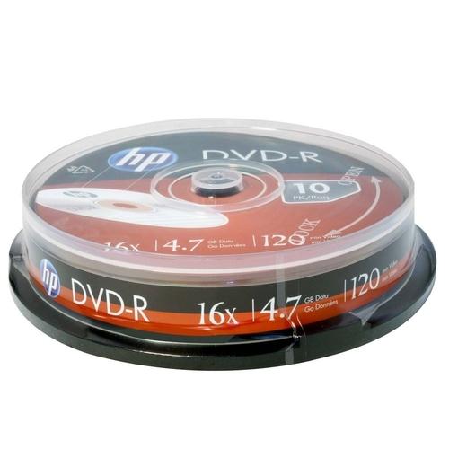 MIDIA DVD-R HP TUBO 10UNDS
