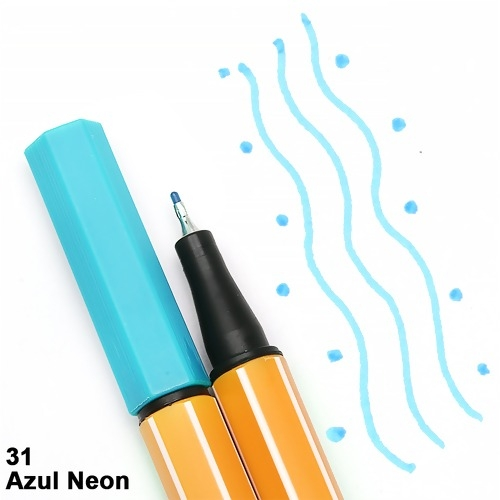 CANETA STABILO POINT 88/031 AZUL NEON