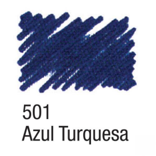 CANETA PARA TECIDO ACRILPEN ACRILEX AZUL TURQUESA 501