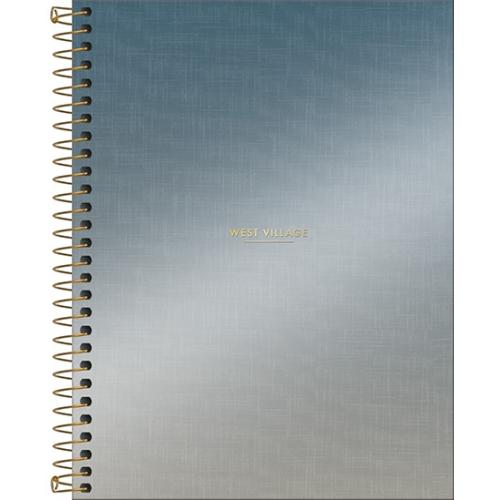 CADERNO COLEGIAL 01M CD TILIBRA WEST VILLAGE METALIZADO