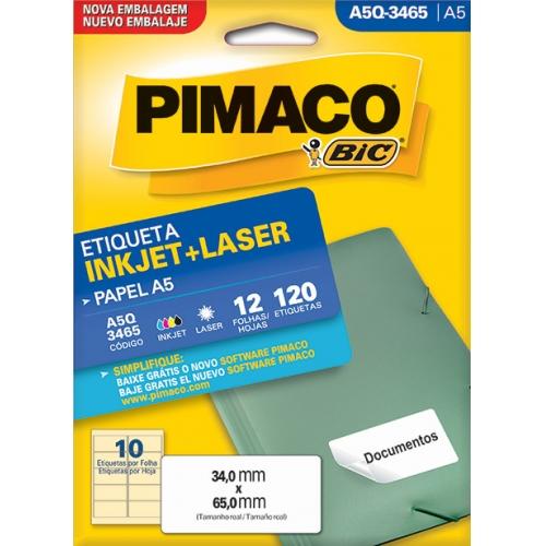 ETIQUETA A5 12FLS PIMACO A5Q-3465