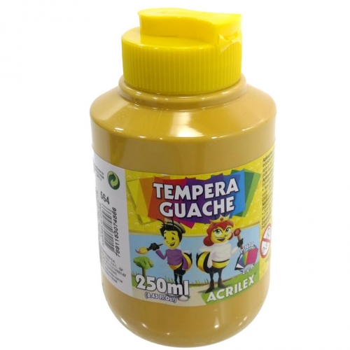 TINTA GUACHE ACRILEX 250ML AMARELO OCRE 564