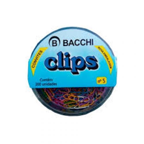 CLIPS COLORIDO 5 CAIXA 200UNDS BACCHI