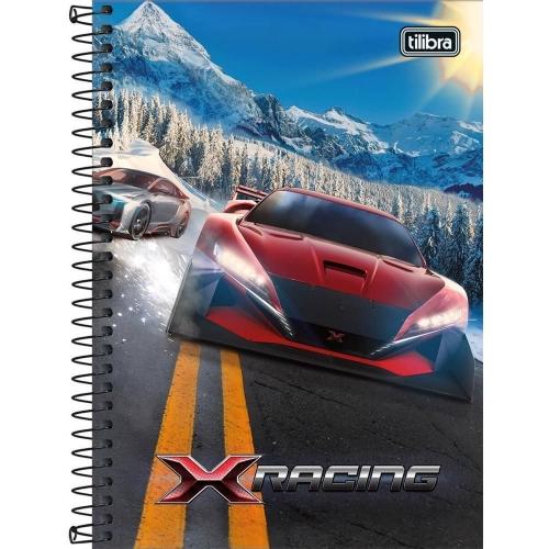 CADERNO ESPIRAL 1/4 CD 80FLS TILIBRA X-RACING