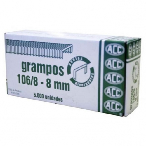 GRAMPO ACC 106/8 GALVANIZADO 2500UNDS