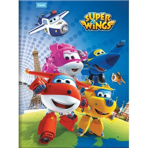 CADERNO BROCHURA 1/4 CD 96FLS FORONI SUPER WINGS