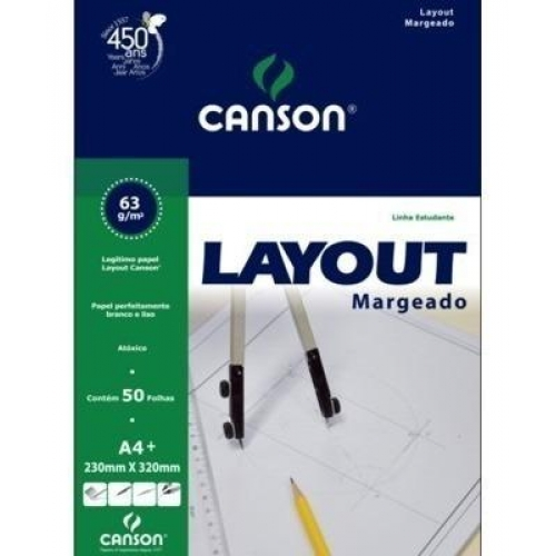PAPEL LAYOUT MARGEADO A4+ 60G CANSON