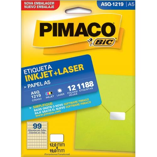 ETIQUETA A5 12FLS PIMACO A5Q-1219
