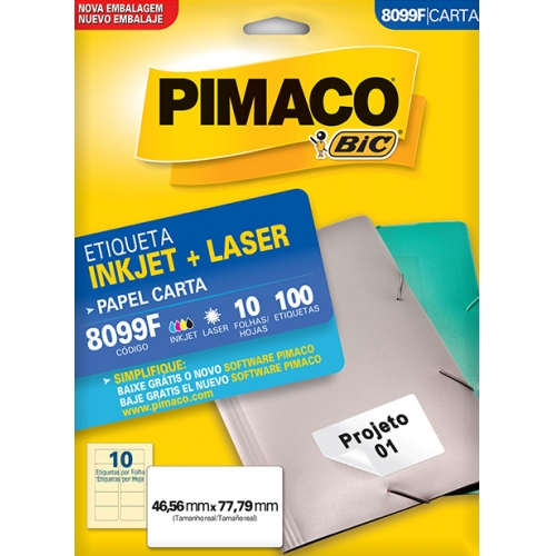 ETIQUETA CARTA 10FLS PIMACO 8099F