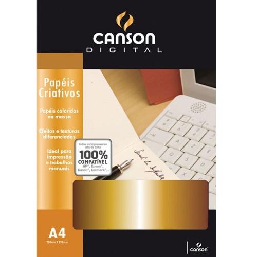 PAPEL A4 120G CANSON BRILHO DOURADO 30FLS