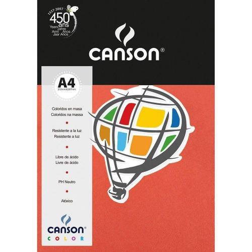 PAPEL COLOR A4 180G CORAL 10FLS CANSON