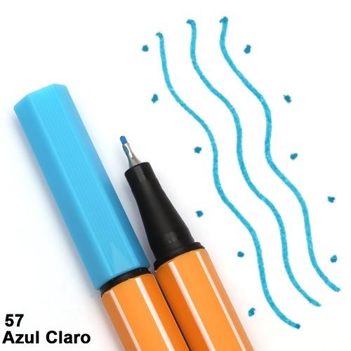 CANETA STABILO POINT 88/57 AZUL CLARO