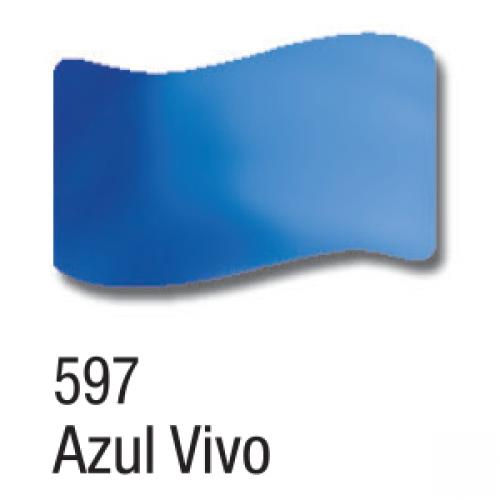 VERNIZ VITRAL ACRILEX 37ML AZUL VIVO