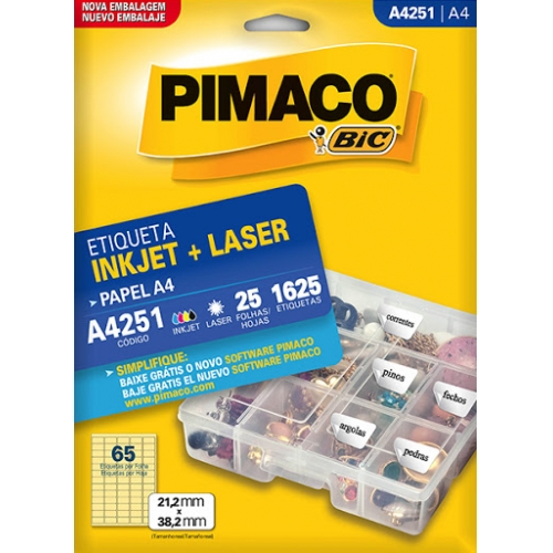 ETIQUETA A4 25FLS PIMACO A4251