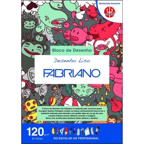 PAPEL DESENHO LISO A4 120G 20FLS FABRIANO